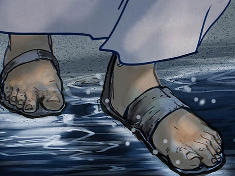 About three o'clock in the morning Jesus came toward them, walking on the water. – Slide 4