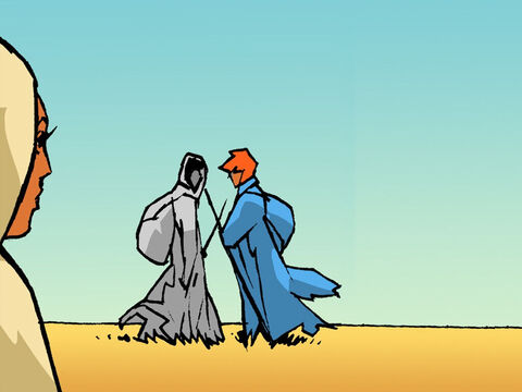 Naomi had decided to return to Bethlehem. She told Ruth and Orpah to stay in Moab. Orpah wanted to remain with her people but Ruth replied. 'Wherever you go, I will go; wherever you live, I will live. Your people will be my people, and your God will be my God.' – Slide 4