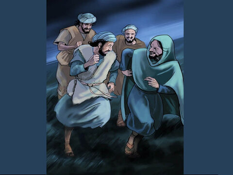 When the angels had left them and gone into heaven, the shepherds said to one another, 'Quickly, let's go to Bethlehem and find this baby in a manger, which the Lord has told us about.' – Slide 6