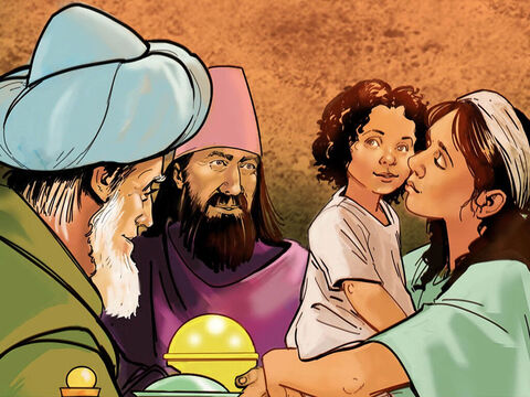 Then they opened their treasures and presented him with gifts of gold, frankincense and myrrh. – Slide 8