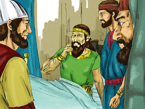 One day, Ahaziah fell through the lattice of his upper room in Samaria and badly injured himself. Uncertain about his future, he called his messengers and said, 'Go to Ekron and consult the god Baal-Zebub, to see if I will recover from this injury.' – Slide 3