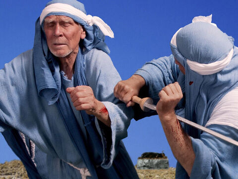 As they became more desperate they slashed themselves with swords and spears to try and please their gods. – Slide 16