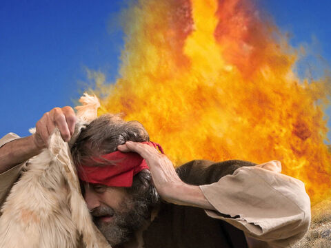 Suddenly, the fire of God fell and burned up the sacrifice, the wood, the stones, the soil and the water in the trench. – Slide 21