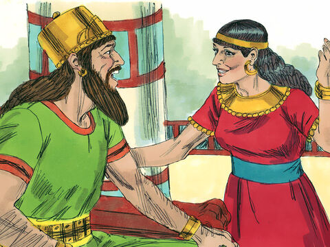 King Ahab and Queen Jezebel ruled the Northern Kingdom of Israel. They encouraged people to worship false gods. – Slide 1