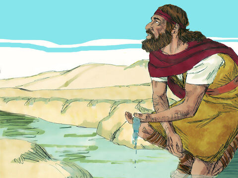 God told Elijah he would get the water from the brook. – Slide 7