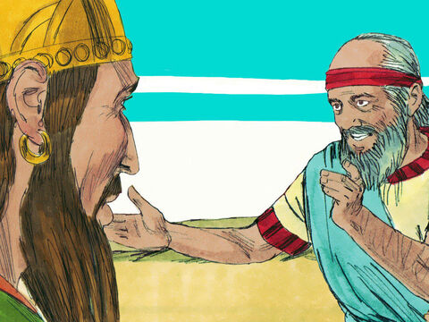 Obadiah rushed to find King Ahab and told him he had found Elijah. – Slide 7