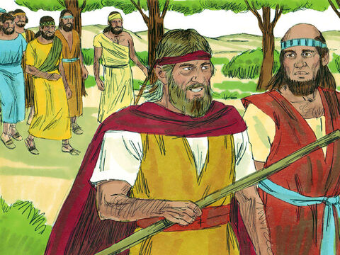 Elijah then said to Elisha, 'Stay here; the Lordhas sent me to the River Jordan.' Elisha replied, 'As surely as the Lord lives and you live, I will not leave you.' So the two of them walked to the River Jordan. Fifty men from the company of the prophets followed them. – Slide 7