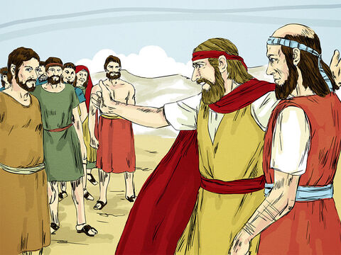 After eating and saying goodbye, Elisha set off with Elijah to begin the new job that God had chosen for him. – Slide 7