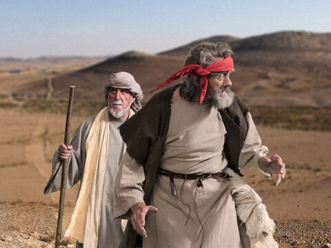 Elijah ran away south, leaving the nation of Israel ruled by Ahab and Jezebel and travelled on through Judea. – Slide 5