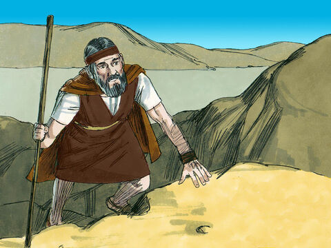 'Go and look towards the sea,' Elijah told his servant. So the servant went up and looked. – Slide 4