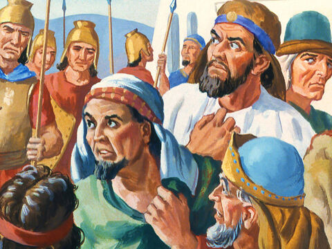 The messengers began to fear for their lives as the King became furious at their failure to find the prophet. – Slide 11