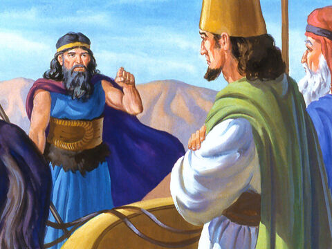 Elijah answered, 'I am not troubling Israel. You are! You have disobeyed the commandments of the Lord – Slide 17