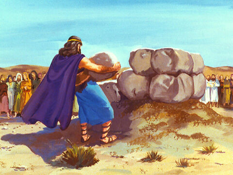 First Elijah took twelve stones and rebuilt a broken altar of the Lord. – Slide 33