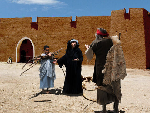 1 Kings 17 v 11 As she turns to fetch him the water, Elijah adds, 'And please bring me a piece of bread.' – Slide 6