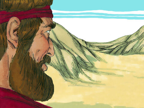 When the brook dried up God told Elijah to travel north to Zarephath where he would be fed by a widow. – Slide 3