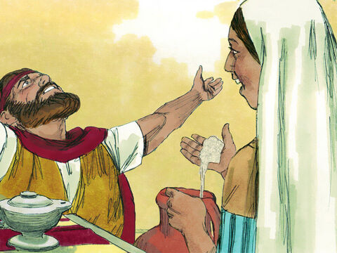 Later, when she went back to the jar, the flour was not used up and the jug of oil did not run dry. Just as God had promised, no matter how much flour and oil they used, it was always replaced. – Slide 9