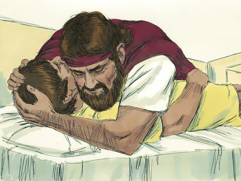 Then he stretched himself upon the child three times and cried out, 'OLord my God, please let this child's spirit return to him.' – Slide 12