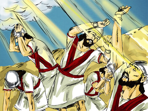 As the enemy came down toward him, Elisha prayed, 'Strike this army with blindness.' God struck them blind as Elisha had asked. – Slide 5