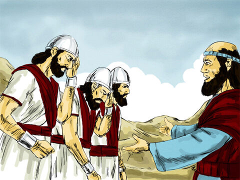 Elisha told the blind soldiers, 'Follow me, and I will lead you to the man you are looking for.' – Slide 6