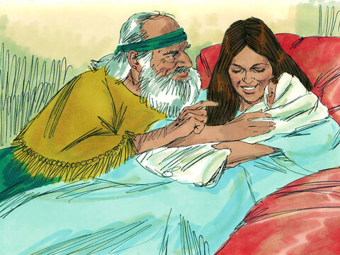 'Please, man of God, don't mislead me!' she said. But the woman did become pregnant, and the following year she gave birth to a son, just as Elisha had told her. – Slide 5