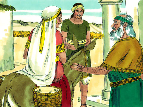 She called her husband and said, 'Please send me one of the servants and a donkey so I can quickly go to the man of God and return.' 'Why go to him now?' asked her husband. She did not tell him but set off immediately. – Slide 8
