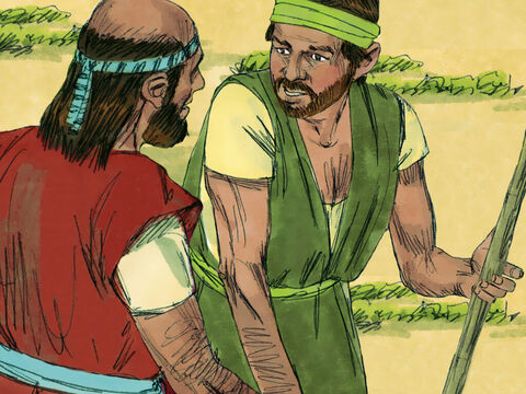 So Gehazi went back to meet Elisha who was on his way to the house. 'The boy has not woken,' he reported. – Slide 13