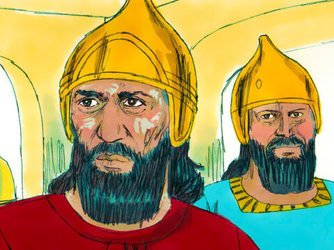 Naaman was commander of the army of the king of Aram.He had won many battles and was highly regarded by his king. However this brave soldier discovered he had a terrible skin disease called leprosy. – Slide 1