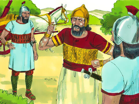 Naaman was furious and said, 'I thought that he would come out, stand and call on the name of theLordhis God and cure me of my leprosy. The rivers of Damascus are better than all the watersof Israel. Couldn't I wash in them and be cleansed?' He turned and went off in a rage. – Slide 8