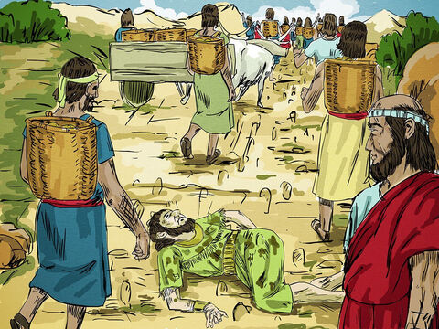 Now the king had put the officer who had mocked Elisha in charge of the city gate. In the mad rush to get out of the city, he was trampled to death. So just as Elisha had said, the officer saw the food but did not taste any of it. – Slide 18