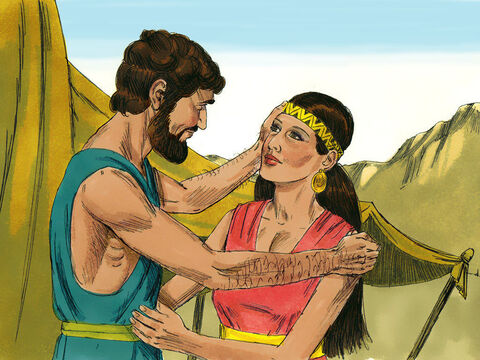 Isaac was forty years old when he married Rebekah. Twenty years passed by and Isaac prayed to the Lord as his wife, was childless. – Slide 1