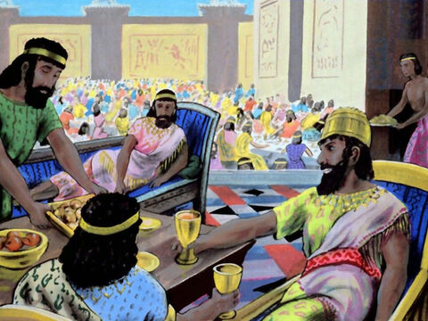 In the third year of the king's reign, he decided to hold a seven-day banquet. – Slide 3