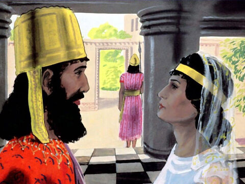 But still no one knew that Esther was Jewish, not even the king. – Slide 10