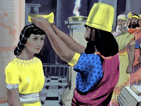 Esther was chosen to be Queen and went to live in the King's palace. – Slide 11