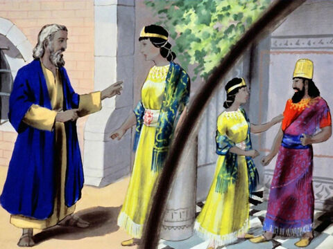 Mordecai went to Queen Esther, and told her to warn the king. – Slide 14