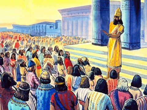 Haman ordered everybody to bow before him, which they all did, except Mordecai. He would not bow to anyone but God. – Slide 18