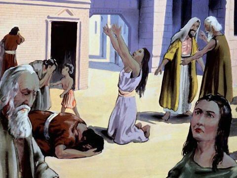 The Jews in the land were weeping and wearing clothes of sack. – Slide 24