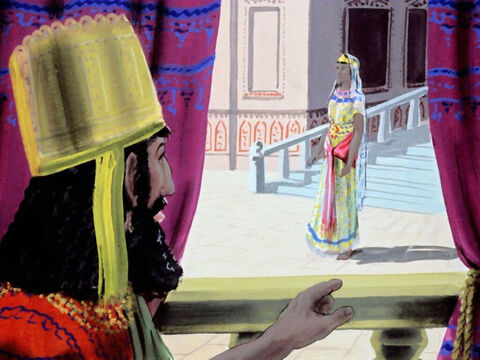 Queen Esther and the Jews prayed to God to deliver them. Then Esther put on her royal robes to see the King. To enter the King's presence without being asked was punishable with death. – Slide 28