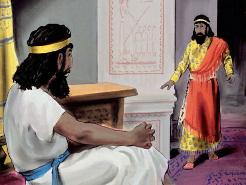 The next morning the king sent for Haman and asked, 'What should I do to the man whom I want to honour and exalt?' – Slide 35