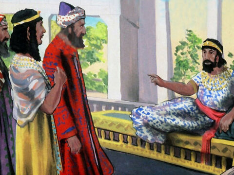 The king was furious.'For this Haman, you will hang.' – Slide 44
