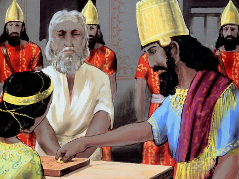Then the king wrote a new royal order, to favour and protect the Jews, and signed it with his own royal seal. – Slide 46
