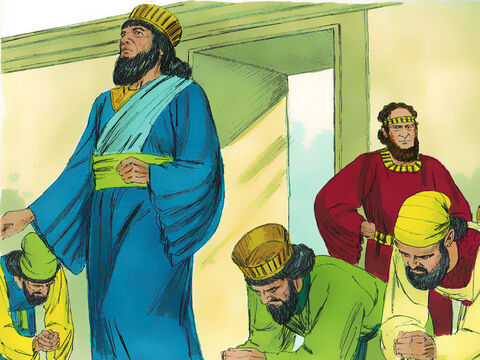 Chapter 3: The king promoted Haman above all the other princes to be the second most powerful man in the Kingdom. All the servants working at the king's gate would bow to Haman when he entered. However Mordecai would not bow before Haman or show him reverence. – Slide 14
