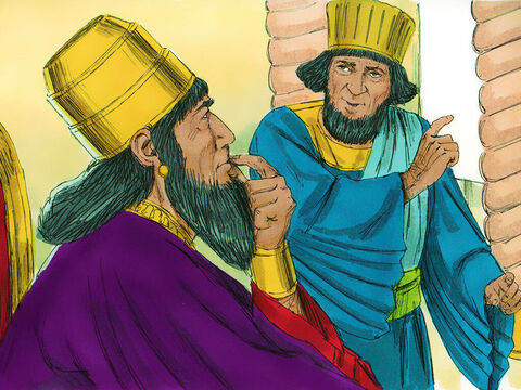 Haman went to the King and said, 'There are people living in the land who have their own laws and obey them rather than the King's commands. – Slide 18
