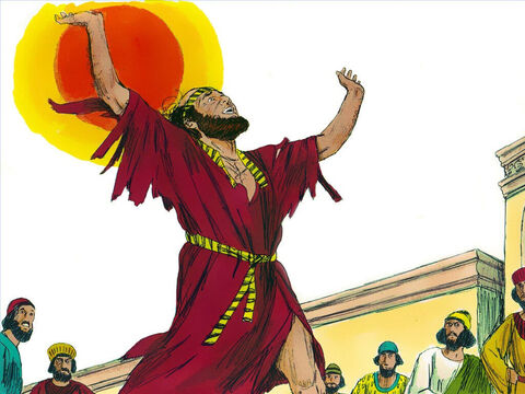 When Mordecai heard of Haman's plan to kill the Jews he tore his clothes, put on sackcloth and ashes and went around the city wailing loudly and bitterly. – Slide 2