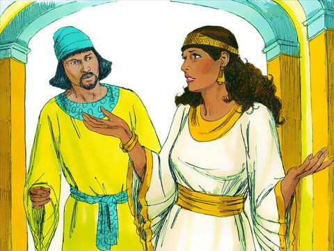Hathak reported back to Esther. 'Anyone who approaches the King's inner chamber without being summoned by the King is put to death – unless the King extends his golden sceptre to them and spares their life. I have not been summoned by the King for 30 days.' – Slide 5