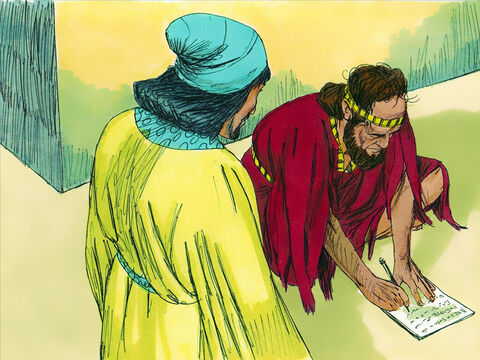 Esther's words were reported back to Mordecai. He sent her back this message. 'Don't think because you live in the palace you alone of all the Jews will escape. If you remain silent the Jews will perish. Who knows but you have been chosen as Queen to help us at this time?' – Slide 6