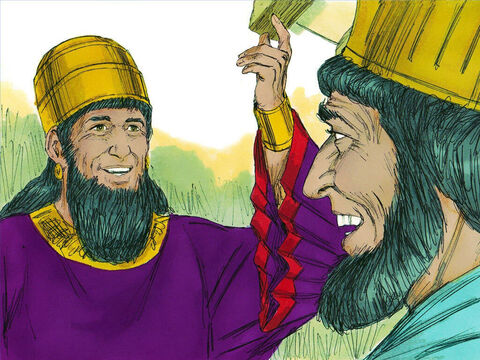 The King asked Haman, 'What should be done for a man the King wants to honour?' Thinking that the King wanted to honour him, Haman replied, 'Put the man in a royal robe the King has worn and on a horse the King has ridden.' – Slide 17