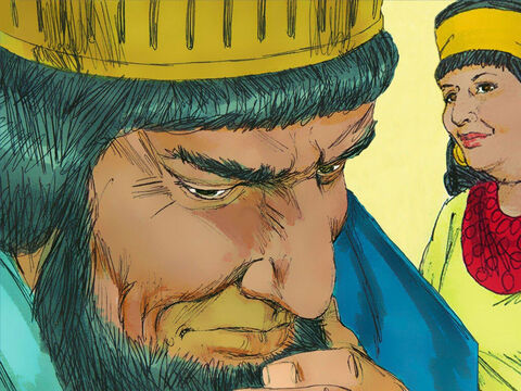 A humiliated Haman rushed home in grief and reported what had happened to his wife and friends. 'Since Mordecai the Jew has begun your downfall you cannot stand against him,' they replied, 'you will come to ruin.' – Slide 21