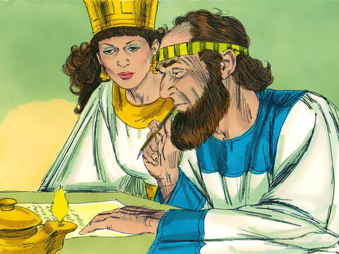 Mordecai recorded these events and sent letters to the Jews asking them celebrate this victory every year on the 14th and 15th days of the 12th month. Haman had plotted and cast a lot, known as a Pur, to destroy the Jews. So the celebration was called the Feast of Purim. – Slide 15