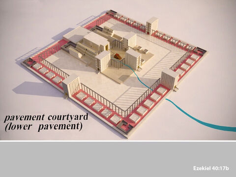 A stone pavement, called the lower pavement, ran around the inner courtyard. – Slide 15
