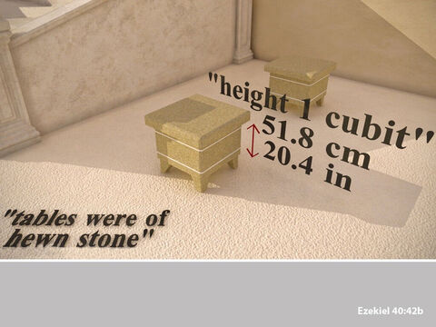 These stone tables were 1 cubit. – Slide 29